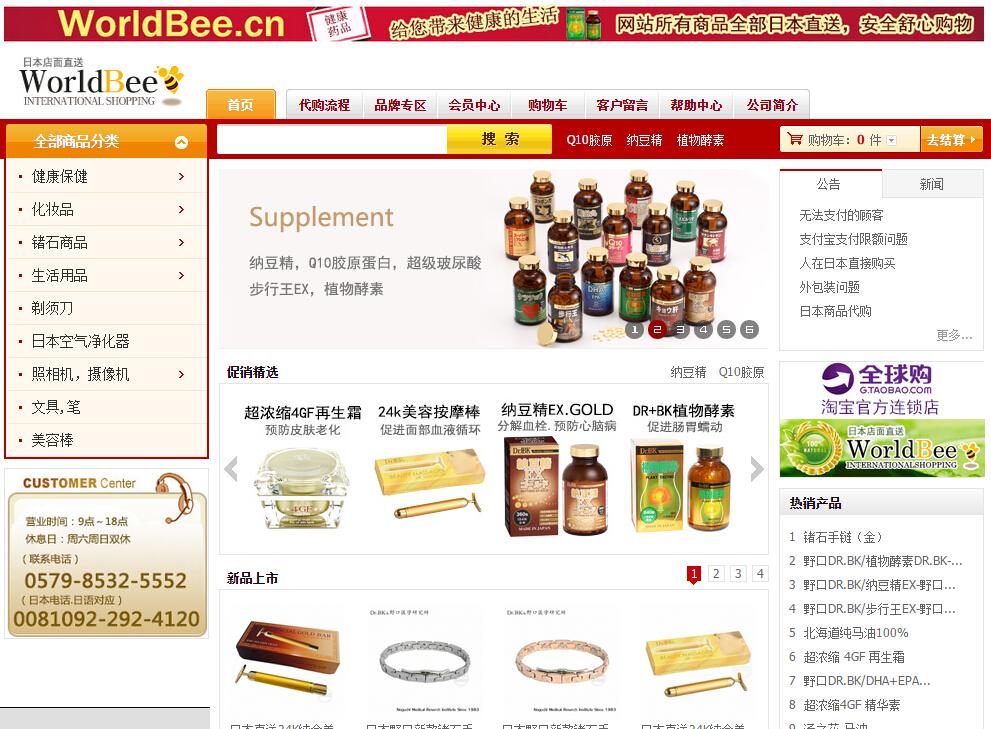 网站建设-WorldBee中国